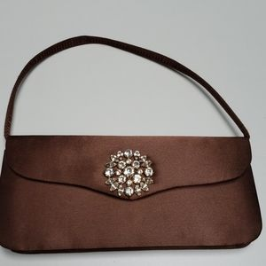 Brown Silk Evening-ware Purse